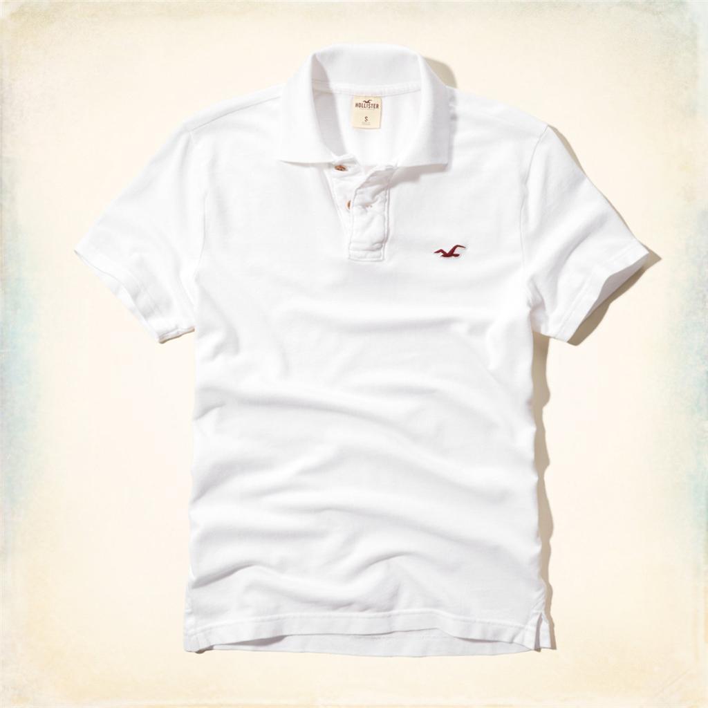 NWT Hollister by Abercrombie Men Malaga Beach Polo Tee T-Shirt Short Sleeve