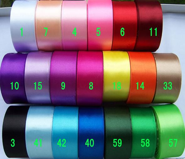 1-1-2-1-5-38mm-solid-color-20-options-Satin-RIBBON-5-yards-U-pick-single-face
