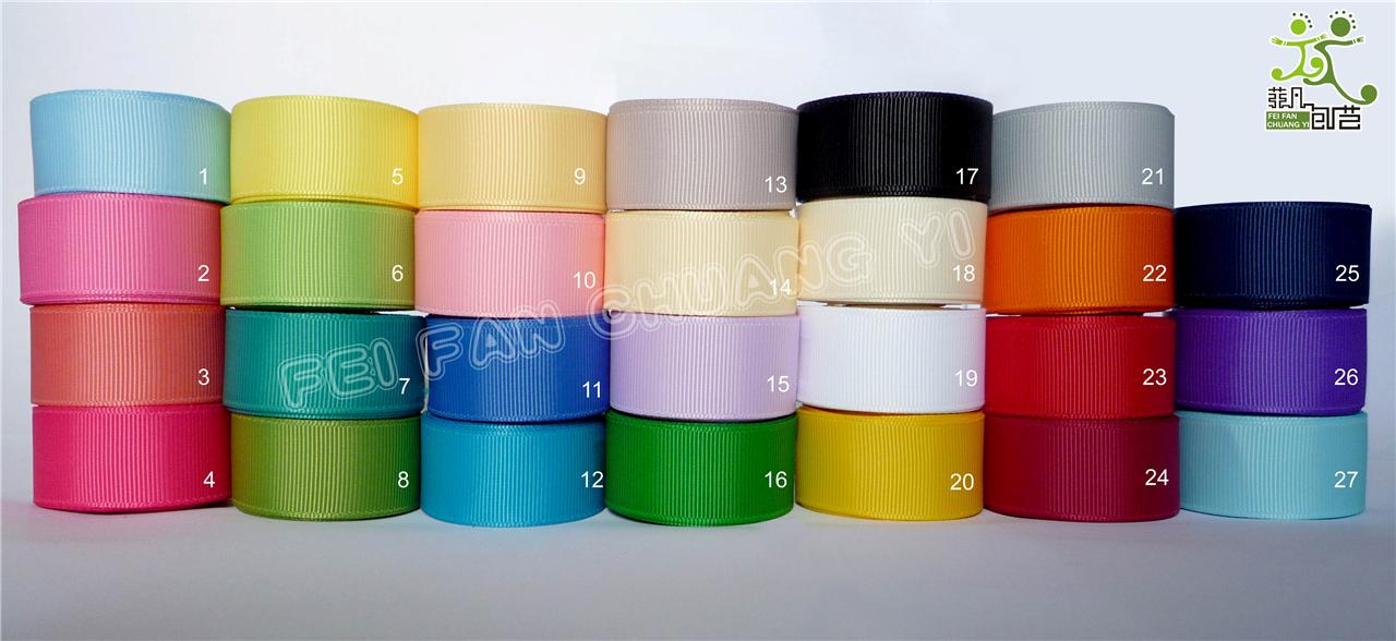 5-8-16mm-10-yard-Grosgrain-RIBBON-27-colors-U-pick