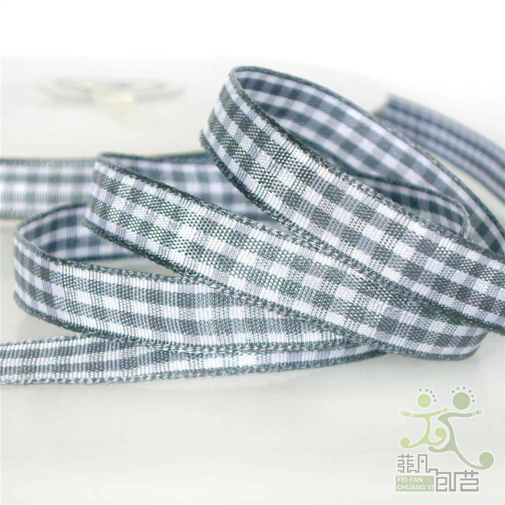 3-8-9mm-10Yards-gingham-ribbon-korker-hairbow-U-pick-12-colors-high-quality
