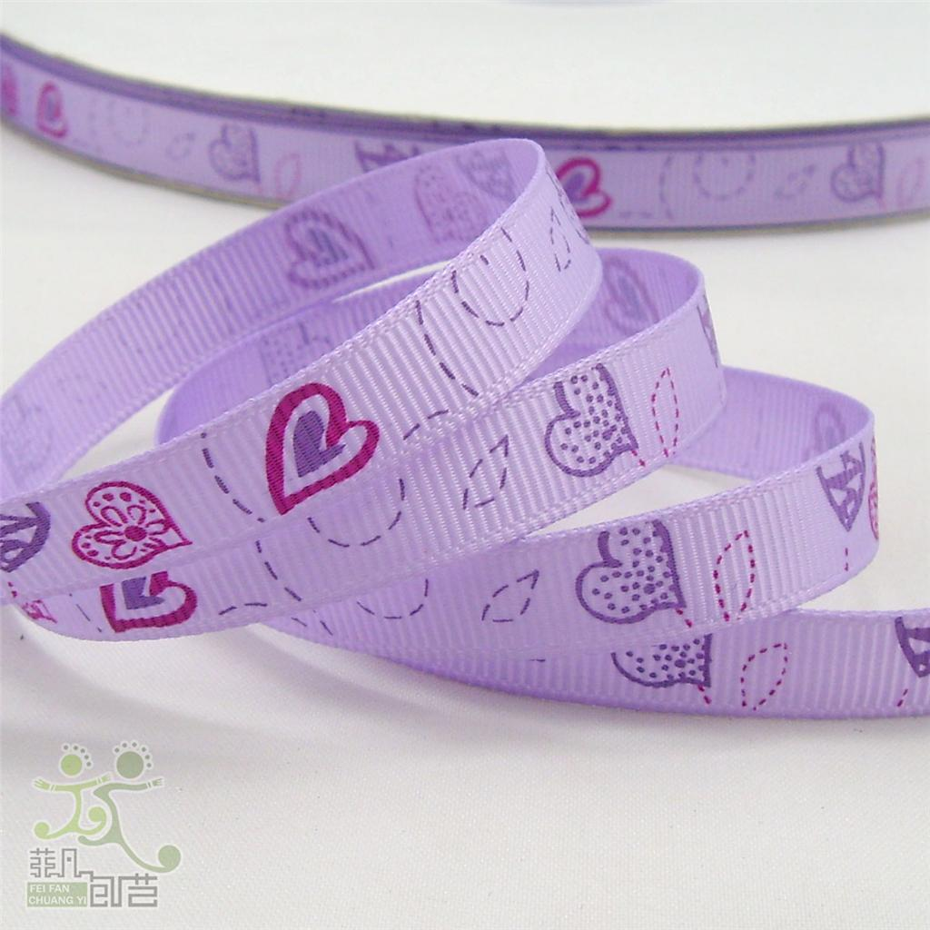 3-8-9mm-Heart-Valentine-Grosgrain-RIBBON-5-yard-Craft-Sewing-Wrapping-Cards-DIY