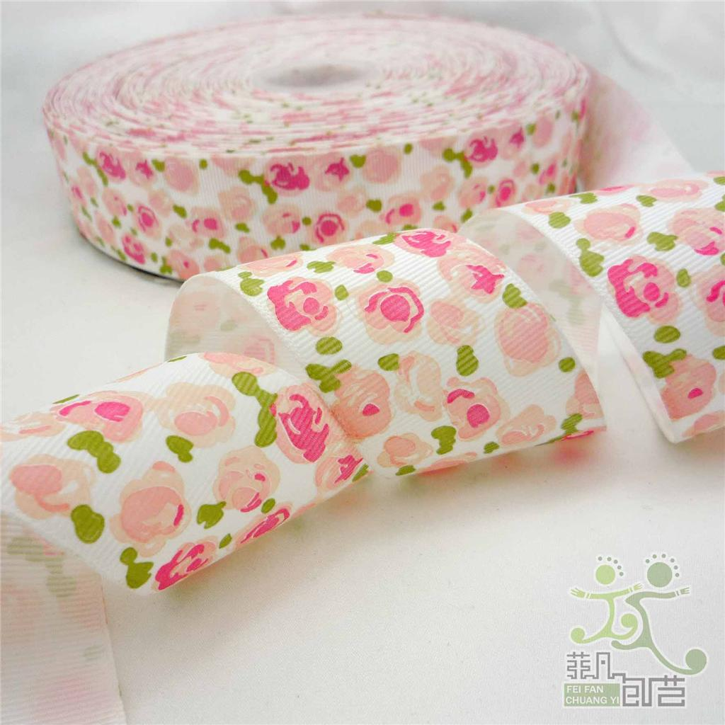 1-5-38mm-white-red-purple-yellow-red-rose-grosgrain-ribbon-bow-craft-5-yards