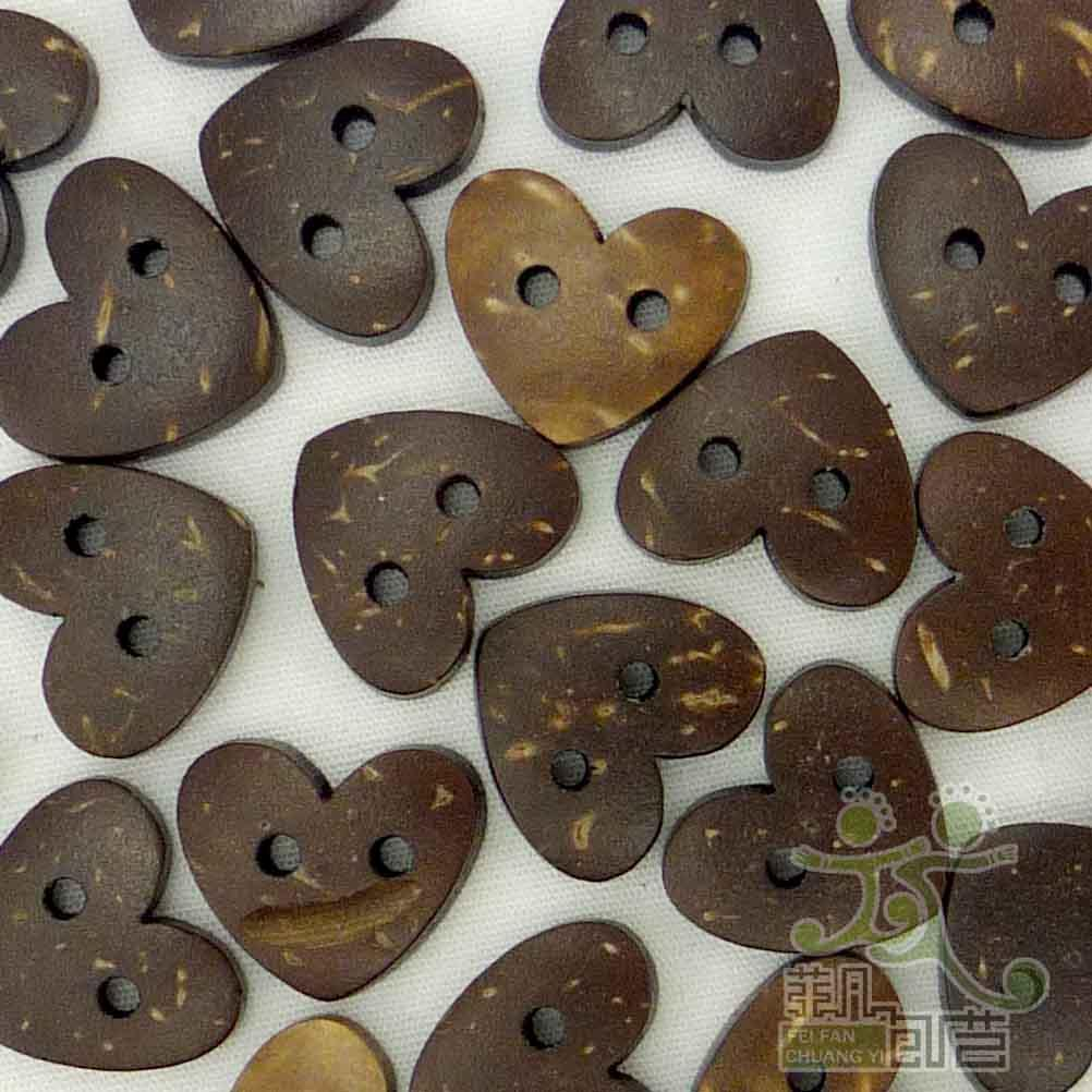 20/100pcs Coconut Buttons Lot Brown Craft/kids Sewing 9 design U pick Cards DIY