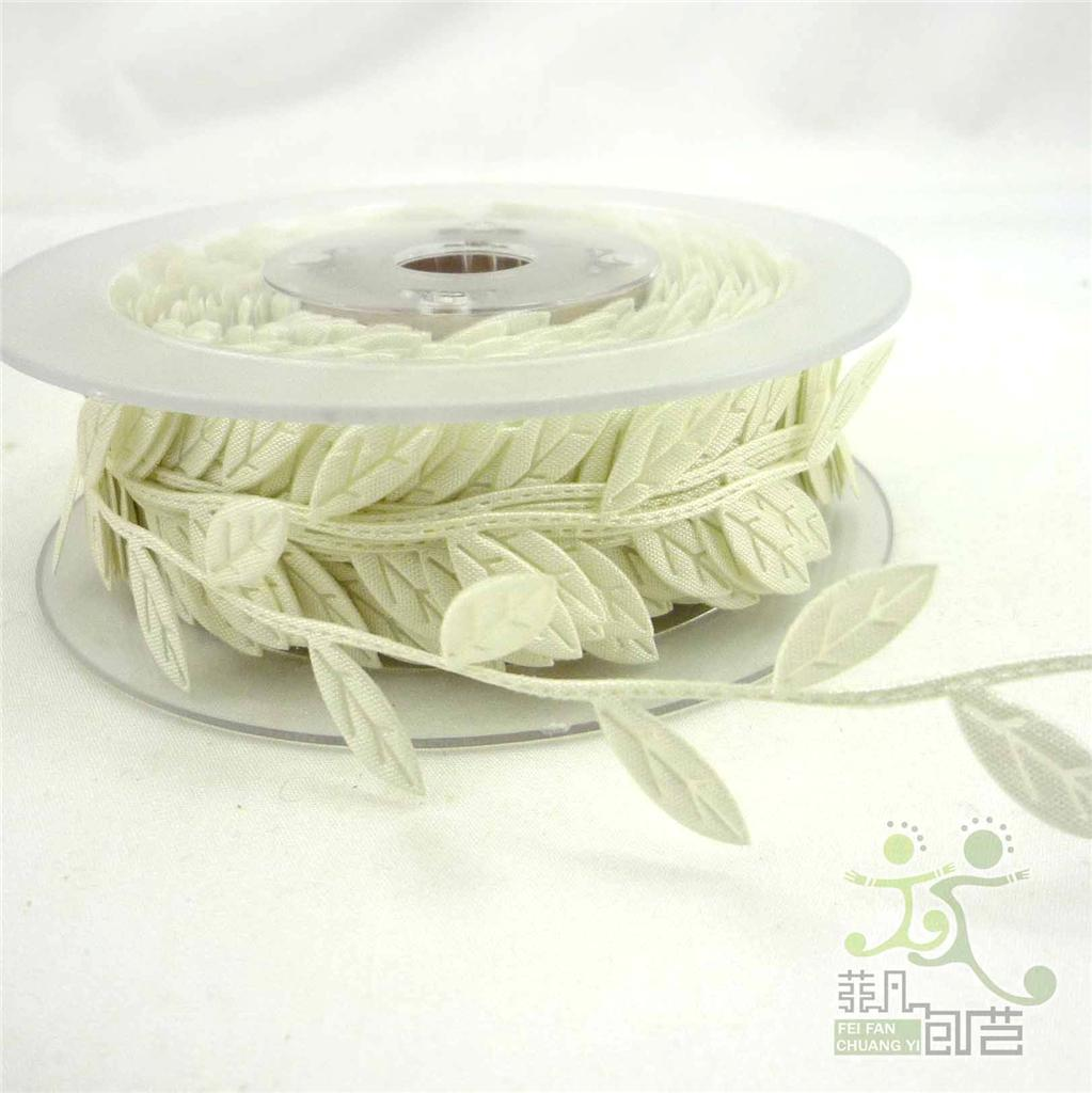 3cm 6 colors Leaves Ribbon Sewing craft Lace Trim embellishment 2 Yards U Pick