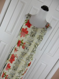 Bantry Bay by Tina Camato Size M Long Sleeveless Dress Floral Washable