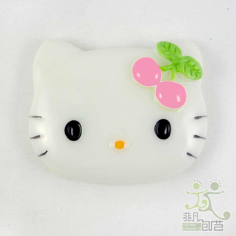5-pcs-resin-flatback-Button-lot-white-kitty-mixed-cherry-bow-craft-embellishment