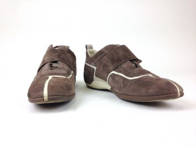 authentic louis vuitton s brown suede lotus sneaker