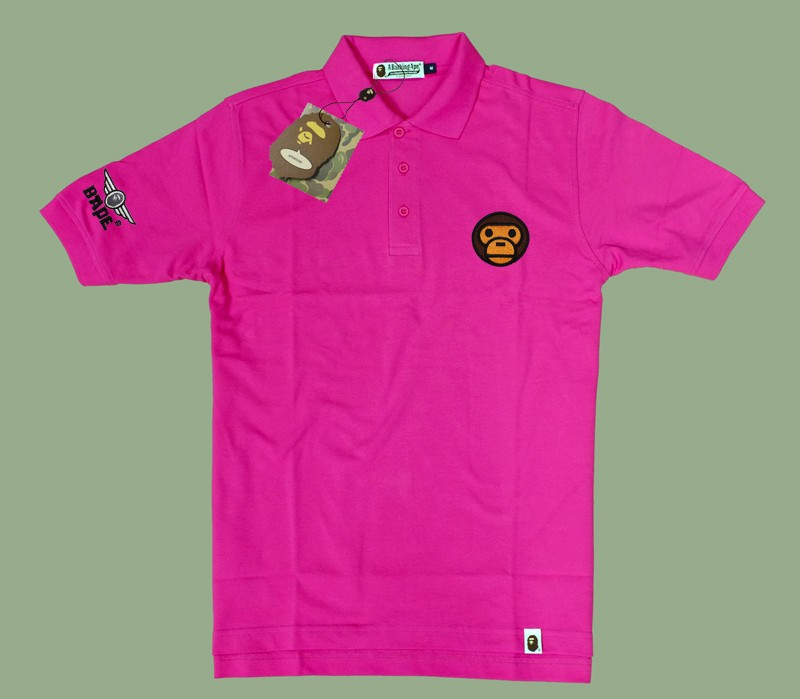 New Bathing Ape Men Polo Shirts Clothing Embroidered Baby