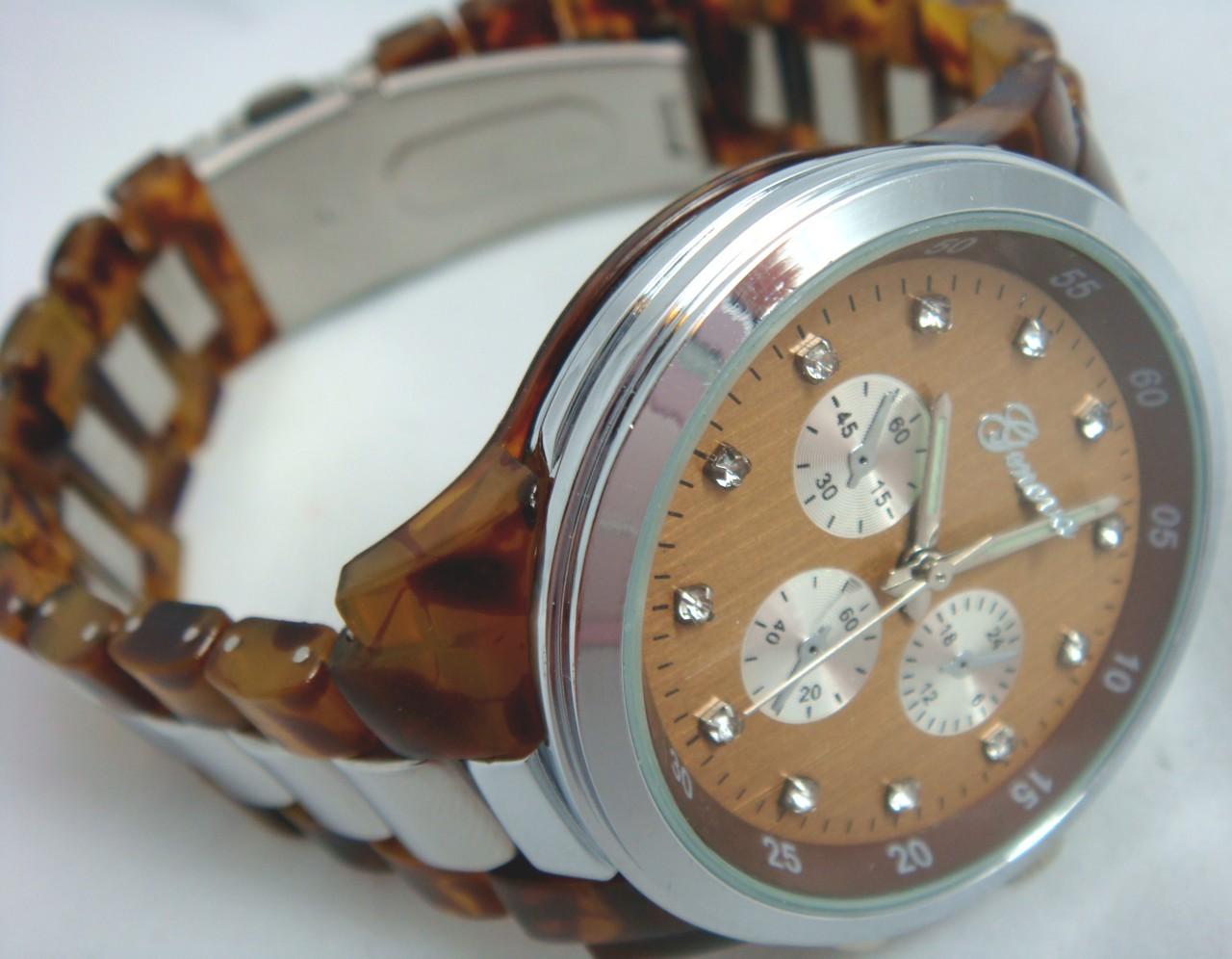 Mens Tortoise Shell Watch