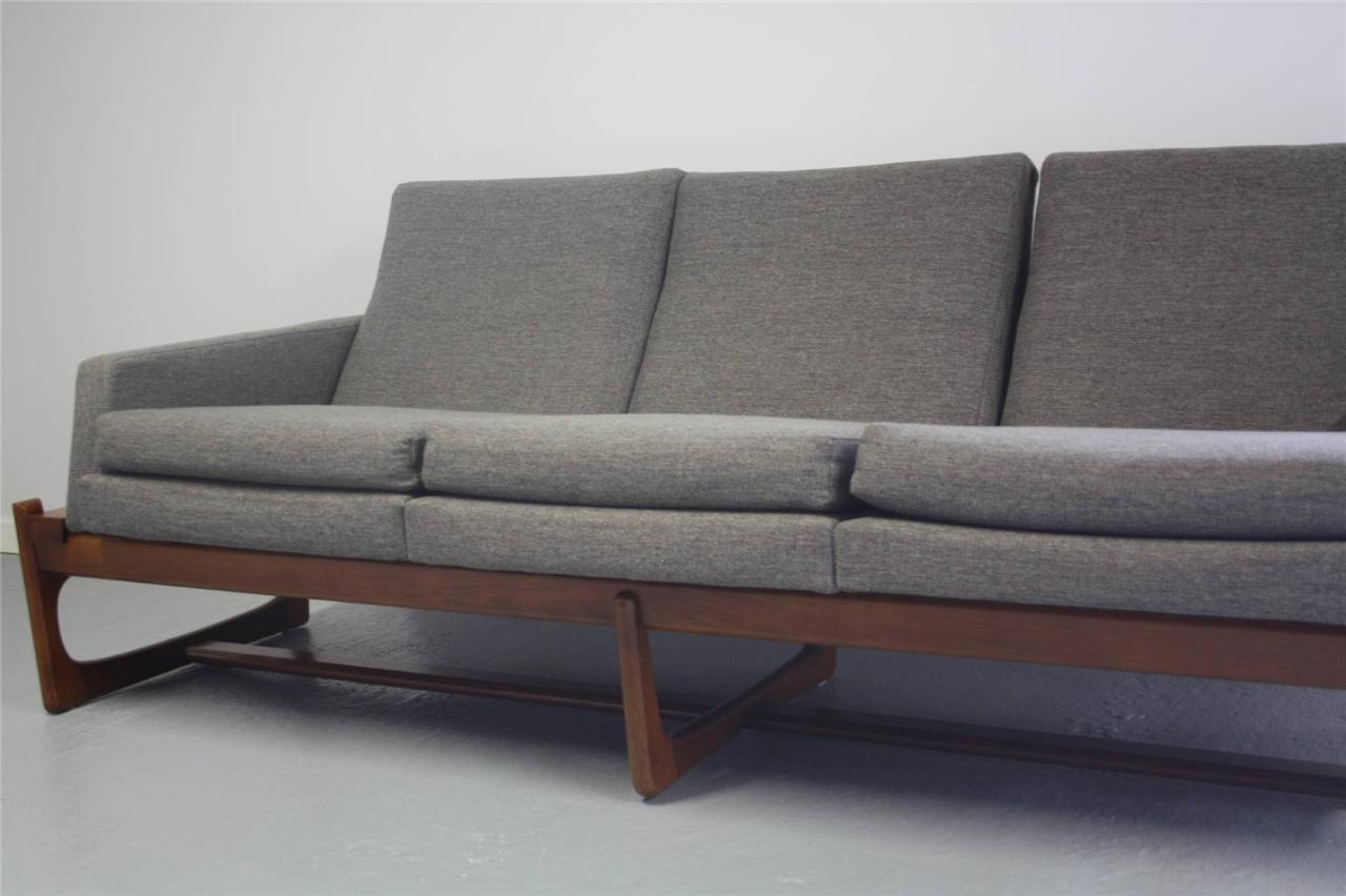 Danish modern mid century retro vintage 60s 70s couch sofa for Modern lounge sofa