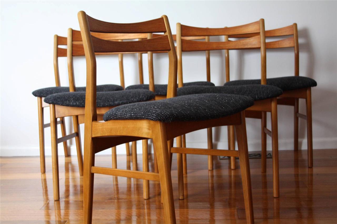 Danish modern mid century retro vintage 60s 70s dining for Mid century modern dining chairs vintage