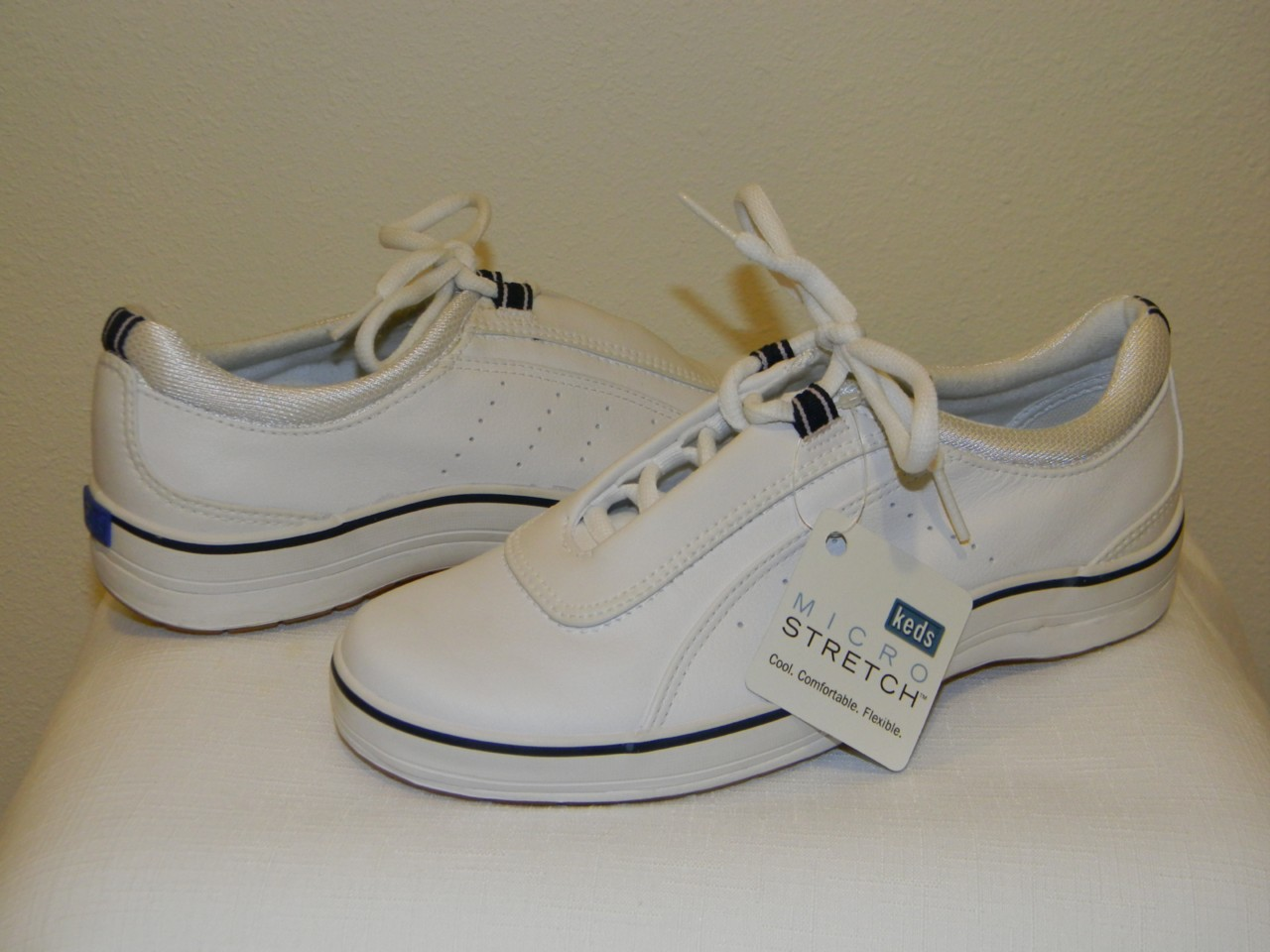fab new keds quot hollis quot white leather casual lace up tennis