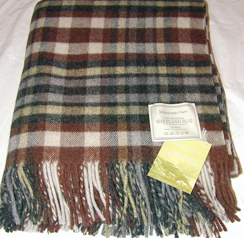 Johnstons of Elgin Shetland Wool Throw Blanket Rug NWT