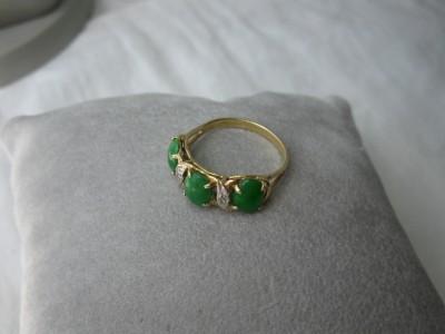 jade diamond 14k wedding engagement ring imperial jadeite. Black Bedroom Furniture Sets. Home Design Ideas