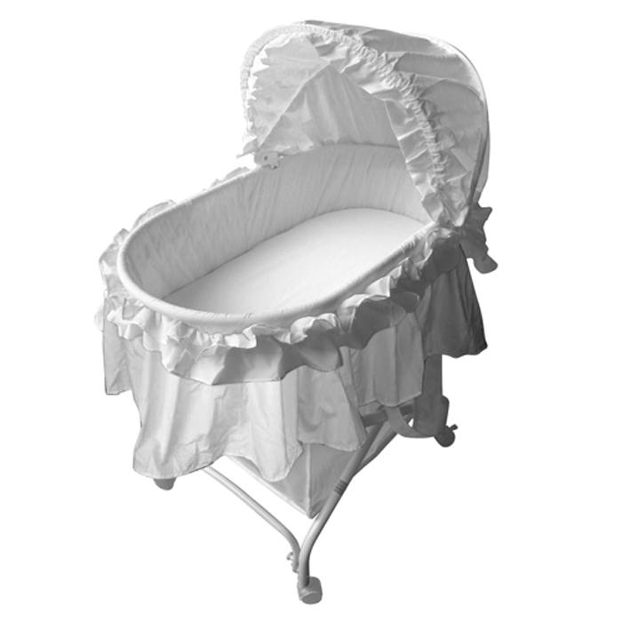 New Quality Infant New Born Baby Rocking Bassinet Cradle Bed Cot Crib Pure White Ebay