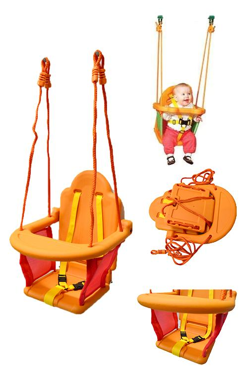 Sturdy-Outdoor-Indoor-Kid-Toddler-Baby-Play-High-Back-Swing-Seat-w-Protection