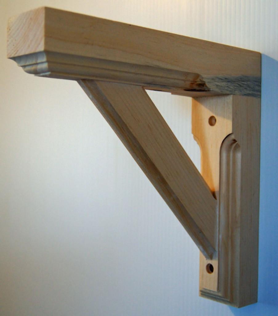 solid pine wood wall shelf bracket unfinished new ebay. Black Bedroom Furniture Sets. Home Design Ideas