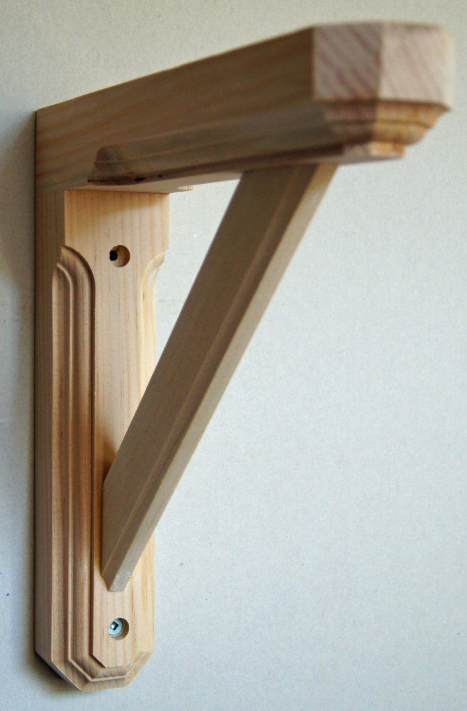 SOLID-PINE-WOOD-WALL-SHELF-BRACKET-HEXAGONAL-ENDS-UNFINISHED-NEW ...