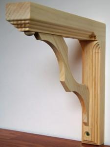 solid pine wood wall shelf bracket scrolled design. Black Bedroom Furniture Sets. Home Design Ideas