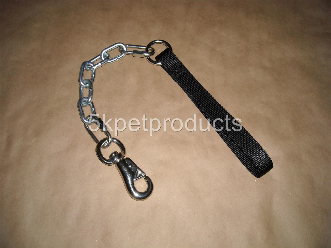 EXTRA Heavy Duty 2 ft. CHAIN LEASH 7.0 mm Pit Bull Dog ...