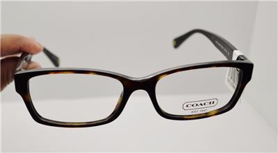 Coach Eyeglass Frames Hc6040 : NEW AUTHENTIC COACH HC 6040 BROOKLYN 5001 DARK TORTOISE RX ...