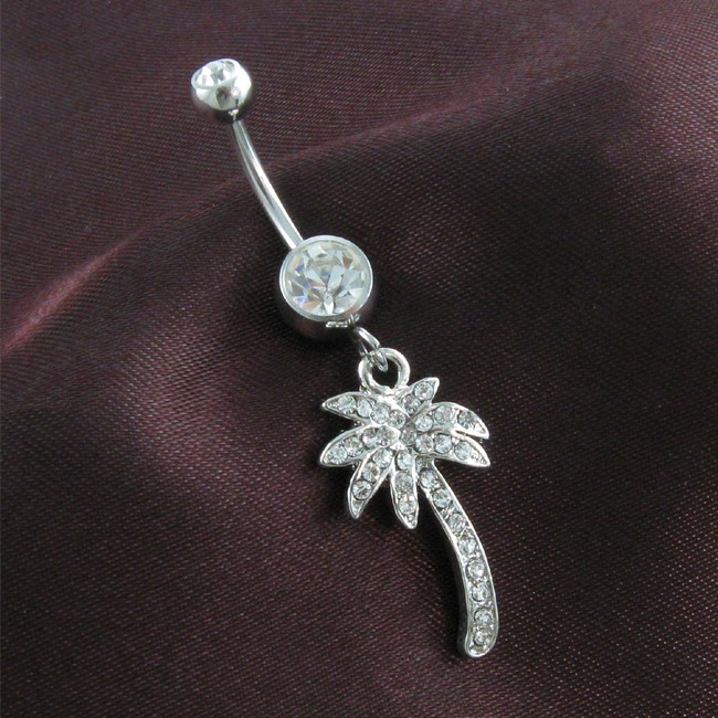 Palm Tree Belly Button Rings