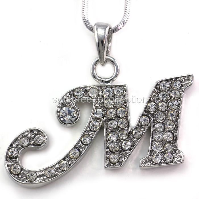 M Letter In Silver Description