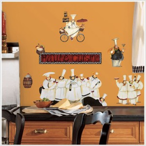 new chefs wall decals kitchen chef stickers cooking decor