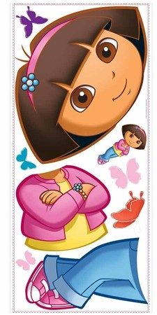 New large dora the explorer wall decal mural girls bedroom for Dora the explorer wall mural