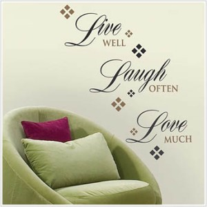 new live well laugh often love much wall decals home