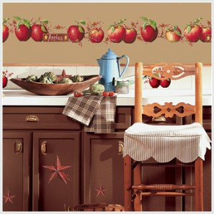 40 New Country Apples Stars Berries Wall Decals Stickers