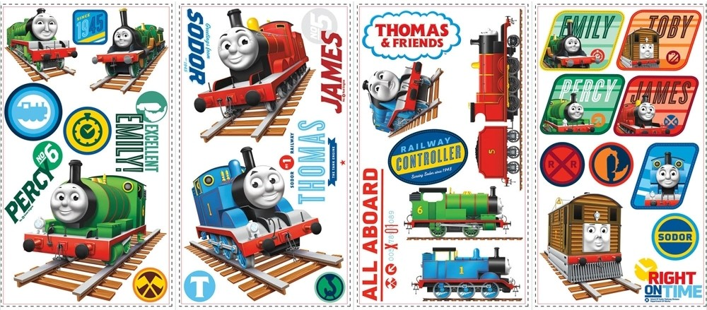 33-New-THOMAS-THE-TRAIN-WALL-DECALS-Tank-Engine-Stickers-Boys-Trains-Room-Decor