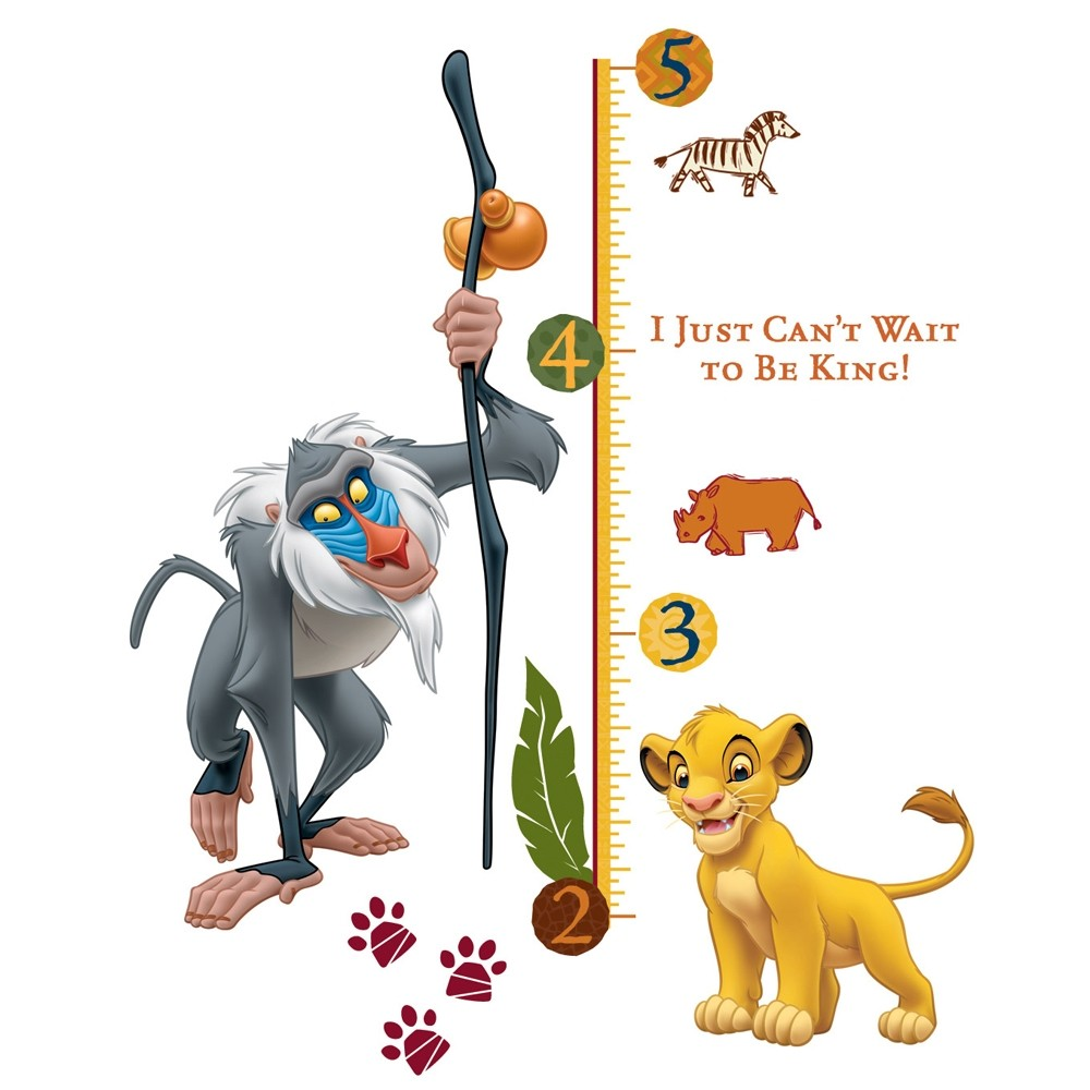new lion king giant wall decals kids growth chart bedroom pics photos the lion king wall stickers