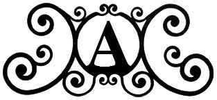 new black wrought iron monogram letter over the