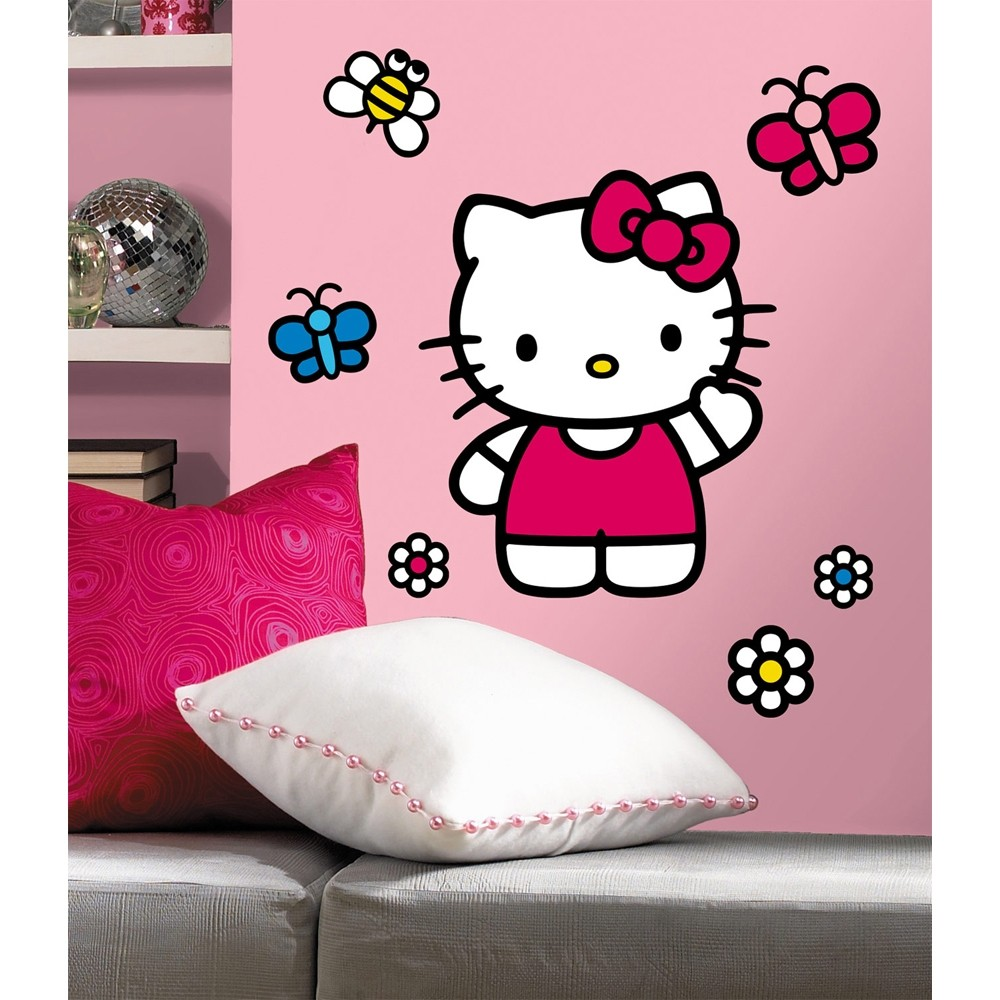 ... -WORLD-OF-HELLO-KITTY-WALL-DECALS-Girls-Bedroom-Stickers-Decorations