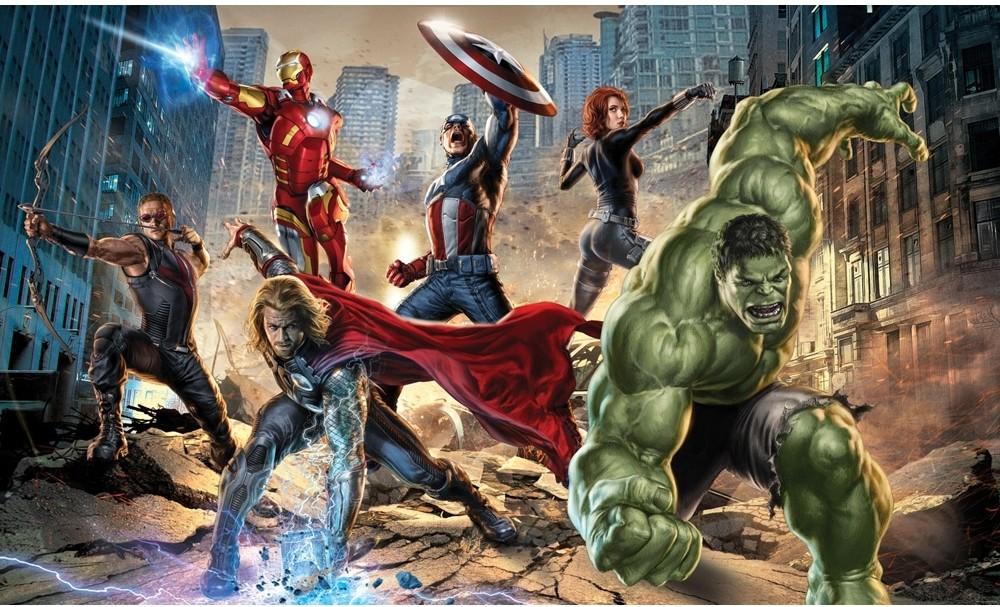 Avengers comic strip car interior design for Avengers wall mural