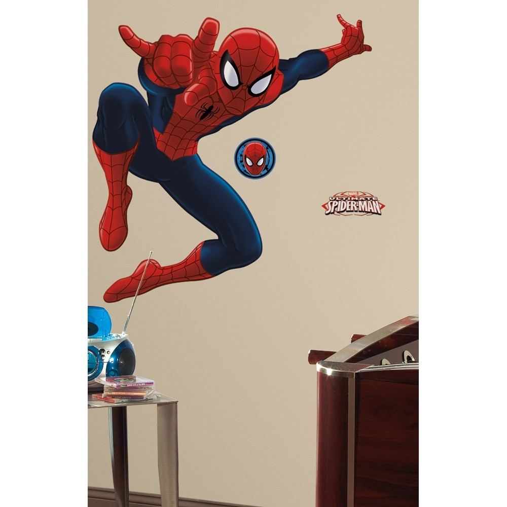 New GIANT ULTIMATE SPIDERMAN WALL DECALS Spider-man Room Stickers Boys Decor  eBay