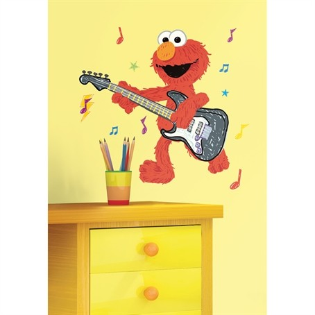 elmo bedroom decor elmo rock roll wall decals sesame street