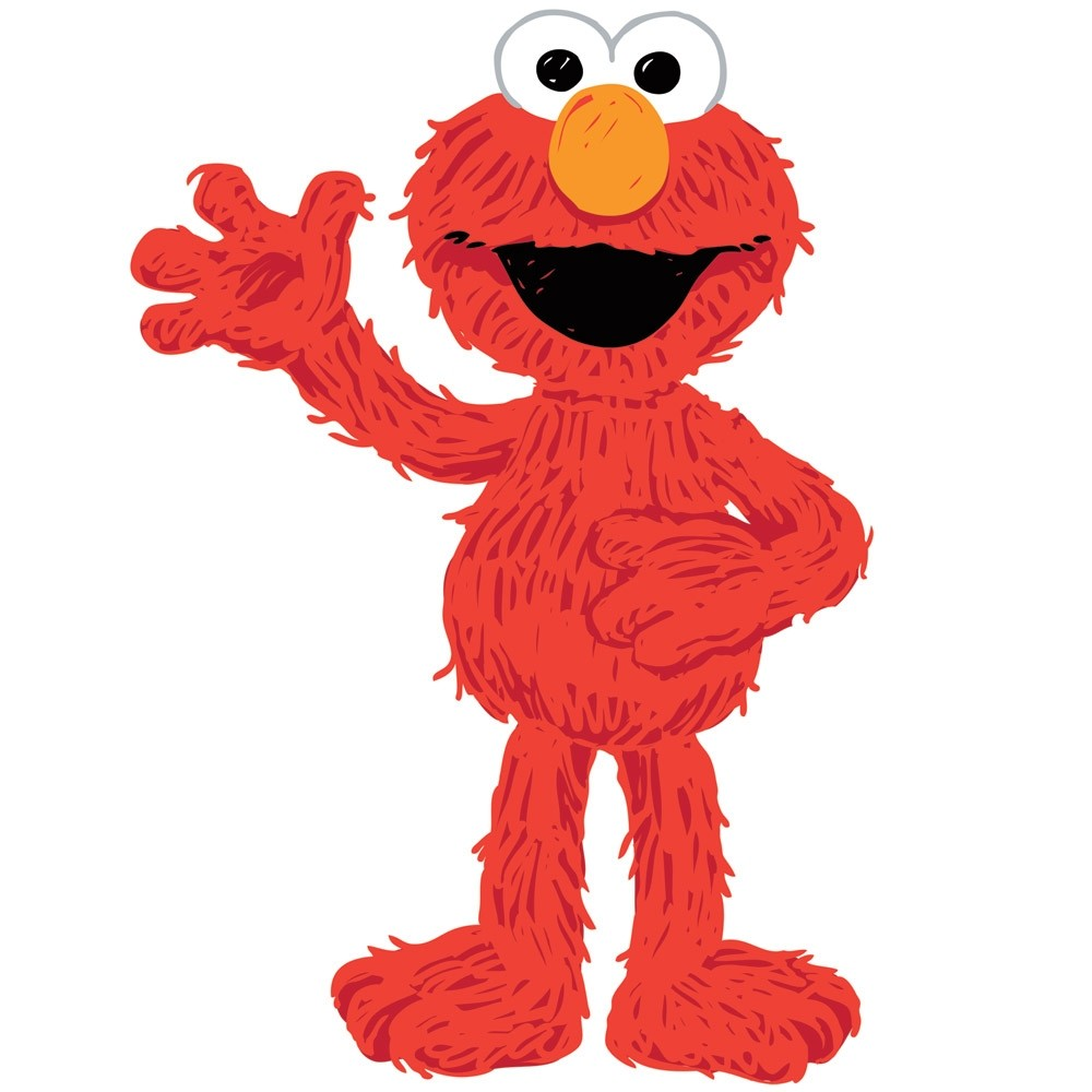 New large elmo loves you wall decals sesame street for Elmo wall mural