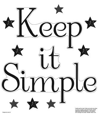 New Peel Stick Black Keep It Simple Wall Decals Quotes Home ...