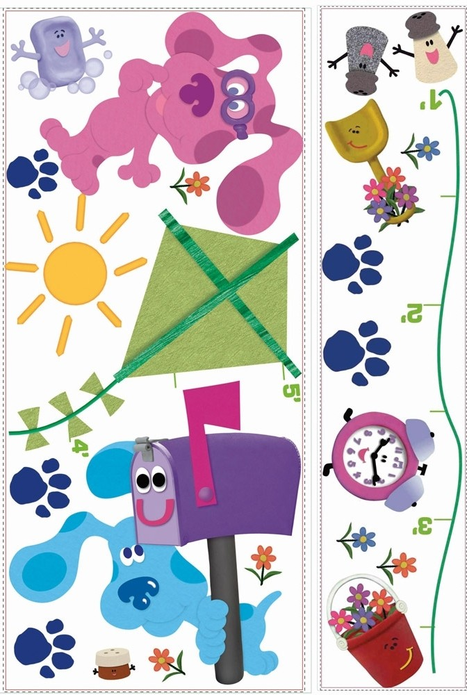 new blues clues growth chart decals blues clues wall stickers, Bedroom decor