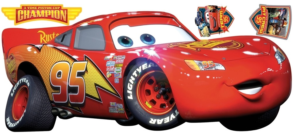 lightning mcqueen peel and stick wall stickers