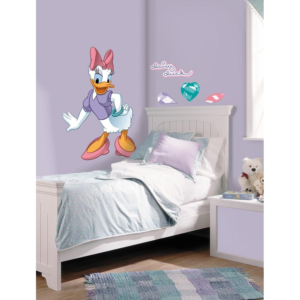 New giant daisy duck wall decals disney mickey mouse - Mickey mouse clubhouse bedroom decor ...