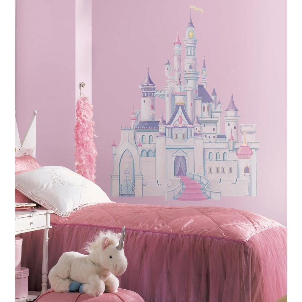 Disney giant princess castle wall mural stickers vinyl for Castle wall mural sticker
