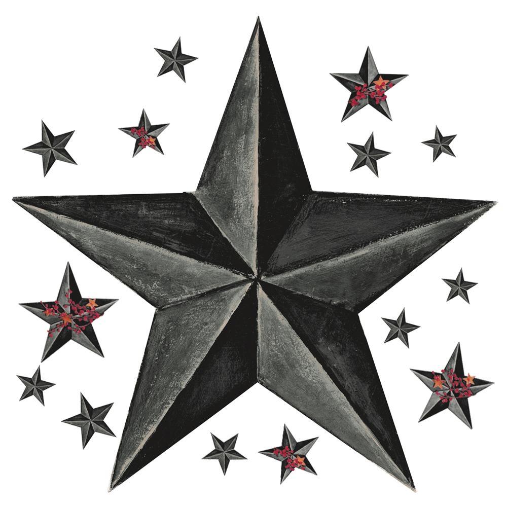 gray barn star wall decals country kitchen stars stickers decor ebay