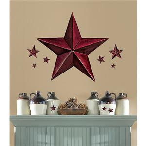 new burgundy barn wall decals country kitchen