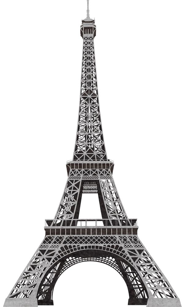 New giant black silver eiffel tower wall decals paris for Eiffel tower wall mural black and white