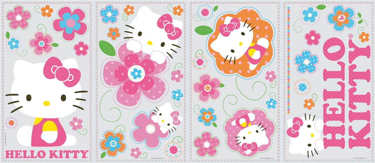 Hello Kitty Floral Boutique Peel And Stick Wall Stickers