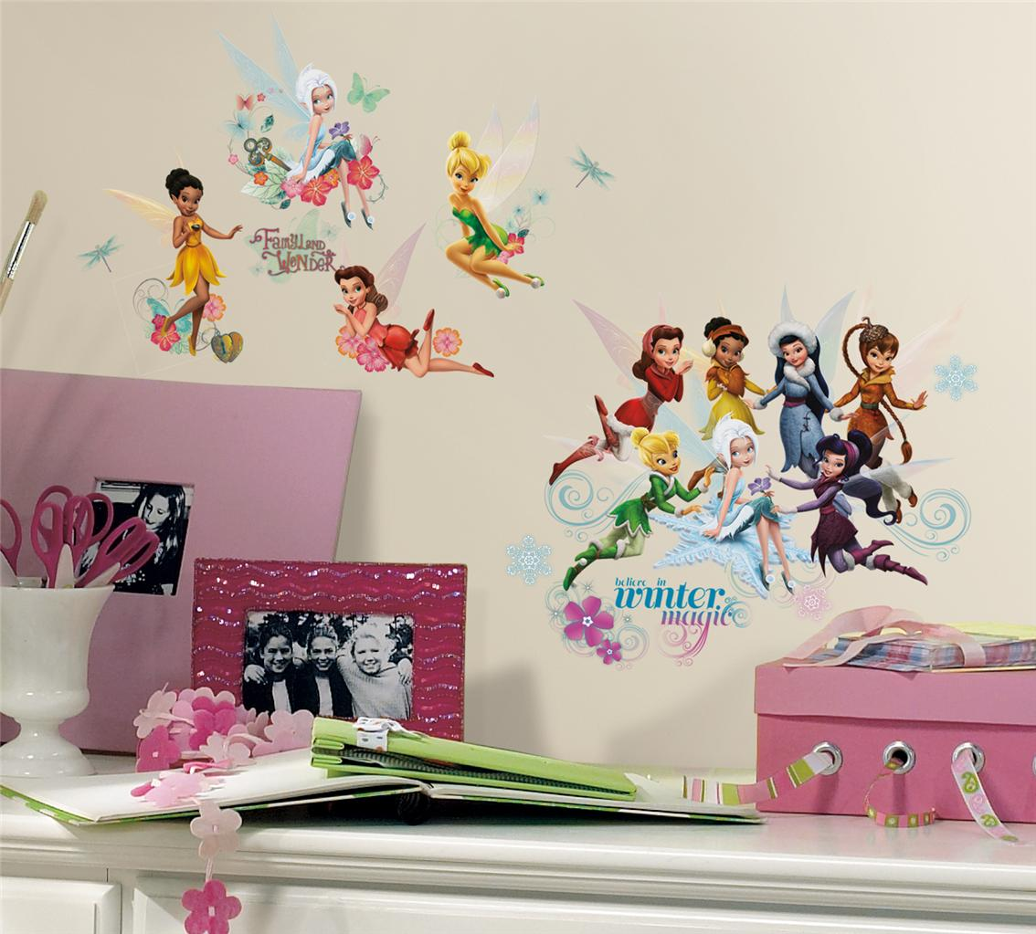New disney fairies secret of the wings wall decals for Disney fairies wall mural