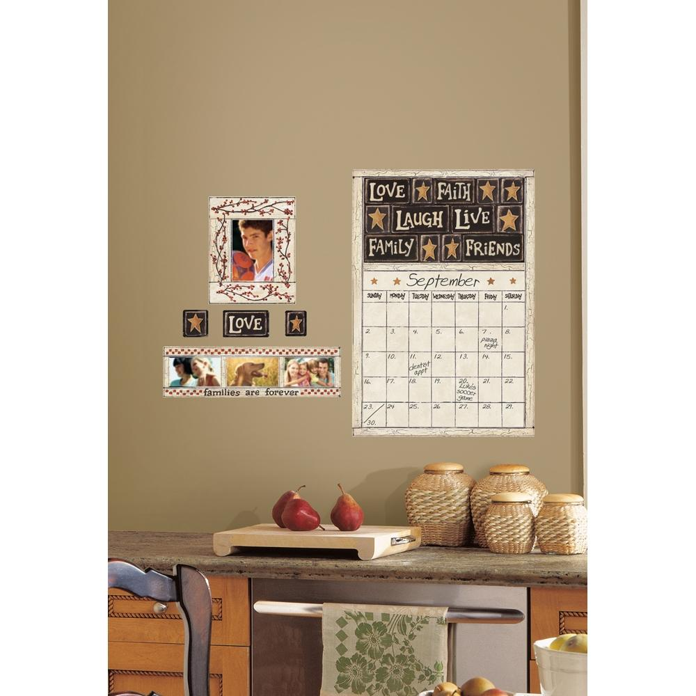 New family friends dry erase calendar wall decals country stickers kitchen decor ebay Home decor wall calendar